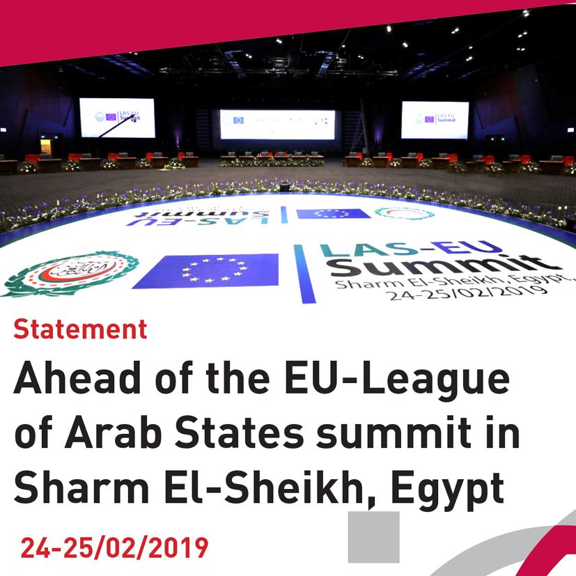 ANND Statement Ahead of the EU-League of Arab States summit in Sharm El-Sheikh, Egypt