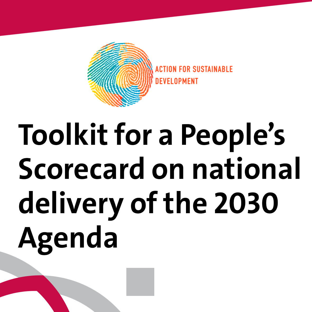 Toolkit for a People's Scorecard on National delivery of the 2030 Agenda