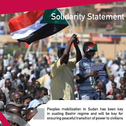 Solidarity Statement: Peoples mobilization in Sudan